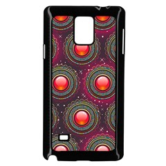 Abstract Circle Gem Pattern Samsung Galaxy Note 4 Case (black)
