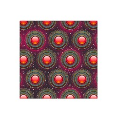 Abstract Circle Gem Pattern Satin Bandana Scarf