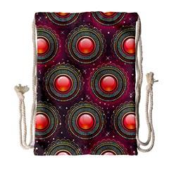 Abstract Circle Gem Pattern Drawstring Bag (large)