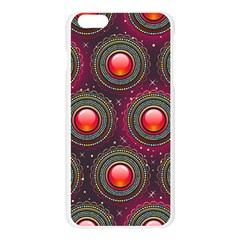 Abstract Circle Gem Pattern Apple Seamless iPhone 6 Plus/6S Plus Case (Transparent)
