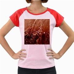 Pink Roses Roses Background Women s Cap Sleeve T-Shirt