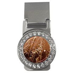 Pink Roses Roses Background Money Clips (cz)