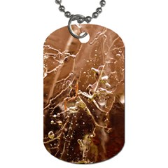 Pink Roses Roses Background Dog Tag (Two Sides)