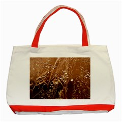 Pink Roses Roses Background Classic Tote Bag (Red)