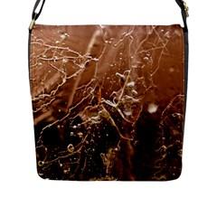Pink Roses Roses Background Flap Messenger Bag (L)