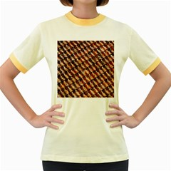 Dirty Pattern Roof Texture Women s Fitted Ringer T-Shirts