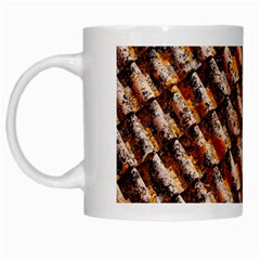 Dirty Pattern Roof Texture White Mugs
