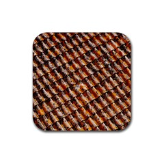 Dirty Pattern Roof Texture Rubber Square Coaster (4 pack)
