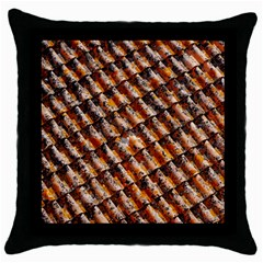 Dirty Pattern Roof Texture Throw Pillow Case (Black)