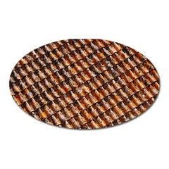 Dirty Pattern Roof Texture Oval Magnet