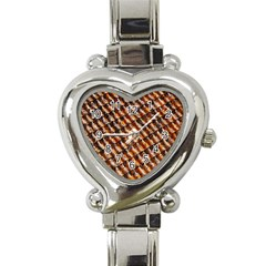 Dirty Pattern Roof Texture Heart Italian Charm Watch