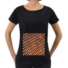 Dirty Pattern Roof Texture Women s Loose Fit T Shirt (black)