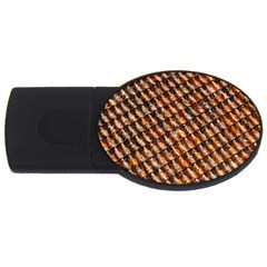 Dirty Pattern Roof Texture Usb Flash Drive Oval (4 Gb)