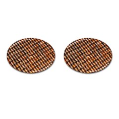Dirty Pattern Roof Texture Cufflinks (Oval)