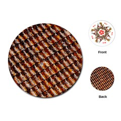 Dirty Pattern Roof Texture Playing Cards (Round)