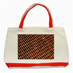 Dirty Pattern Roof Texture Classic Tote Bag (red)