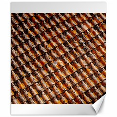 Dirty Pattern Roof Texture Canvas 8  X 10