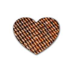Dirty Pattern Roof Texture Heart Coaster (4 pack)