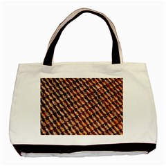 Dirty Pattern Roof Texture Basic Tote Bag (two Sides)