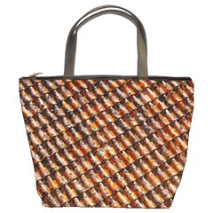 Dirty Pattern Roof Texture Bucket Bags