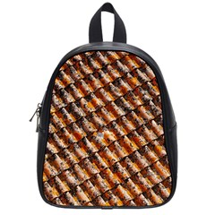 Dirty Pattern Roof Texture School Bags (small)