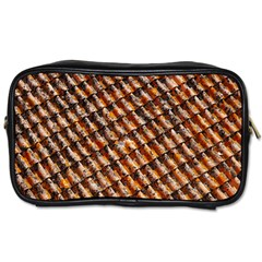 Dirty Pattern Roof Texture Toiletries Bags 2-Side
