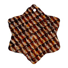 Dirty Pattern Roof Texture Snowflake Ornament (two Sides)