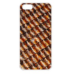 Dirty Pattern Roof Texture Apple iPhone 5 Seamless Case (White)