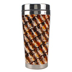 Dirty Pattern Roof Texture Stainless Steel Travel Tumblers