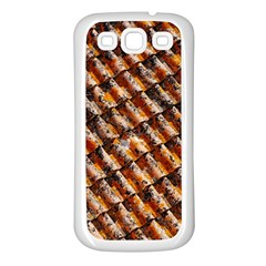 Dirty Pattern Roof Texture Samsung Galaxy S3 Back Case (White)