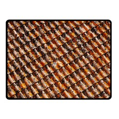 Dirty Pattern Roof Texture Double Sided Fleece Blanket (Small)