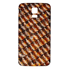 Dirty Pattern Roof Texture Samsung Galaxy S5 Back Case (White)