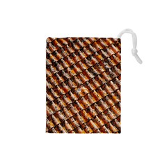 Dirty Pattern Roof Texture Drawstring Pouches (small)