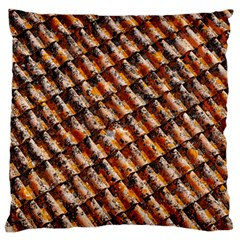 Dirty Pattern Roof Texture Large Flano Cushion Case (two Sides)