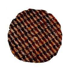 Dirty Pattern Roof Texture Standard 15  Premium Flano Round Cushions