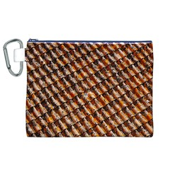 Dirty Pattern Roof Texture Canvas Cosmetic Bag (XL)