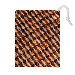 Dirty Pattern Roof Texture Drawstring Pouches (Extra Large)
