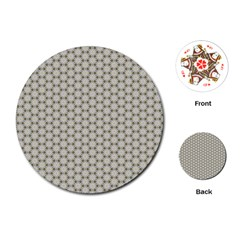 Background Website Pattern Soft Playing Cards (Round)
