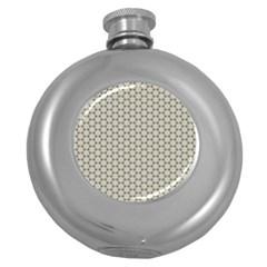 Background Website Pattern Soft Round Hip Flask (5 Oz)
