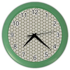 Background Website Pattern Soft Color Wall Clocks