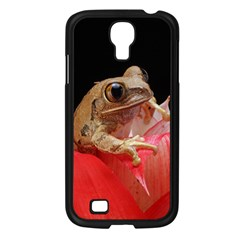Frog In Red Flower Samsung Galaxy S4 I9500/ I9505 Case (Black)