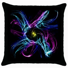 Abstract Art Color Design Lines Throw Pillow Case (Black)
