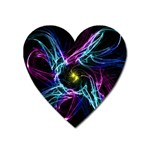 Abstract Art Color Design Lines Heart Magnet Front