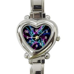 Abstract Art Color Design Lines Heart Italian Charm Watch