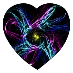 Abstract Art Color Design Lines Jigsaw Puzzle (heart)