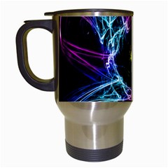 Abstract Art Color Design Lines Travel Mugs (White)