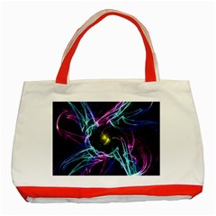 Abstract Art Color Design Lines Classic Tote Bag (red)