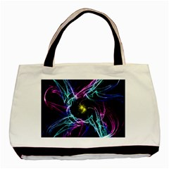 Abstract Art Color Design Lines Basic Tote Bag (Two Sides)