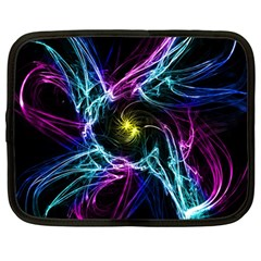 Abstract Art Color Design Lines Netbook Case (Large)