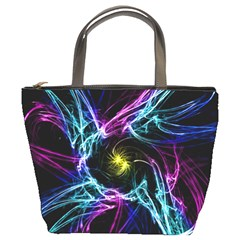 Abstract Art Color Design Lines Bucket Bags
